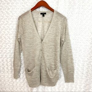 J. Crew Dressy Button Up Cardigan with Pockets